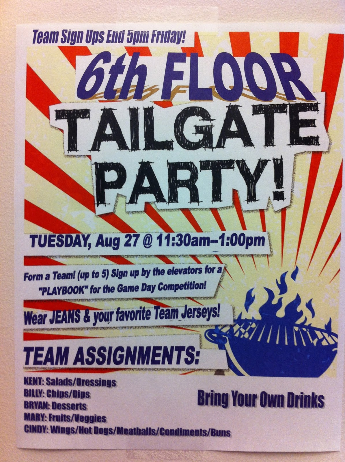 scotty watty doodle all the day the 2013 6th floor tailgate party last week a co worker asked if i could make a flyer for an upcoming floor office party sure i like doing that kind of thing