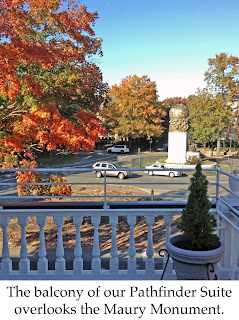 View of the Maury Statue from the Pathfinder Suite of Maury Place at Monument