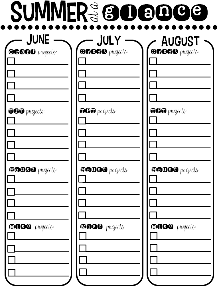 http://www.teacherspayteachers.com/Product/Stay-Organized-Summer-FREE-calendar-and-checklists-252983
