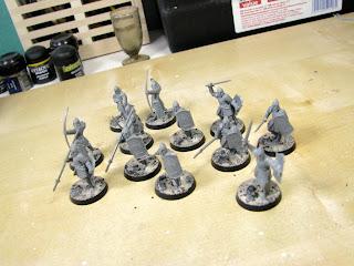Figurki Władca Pierścieni Żołnierze Gondoru gotowi do malowania