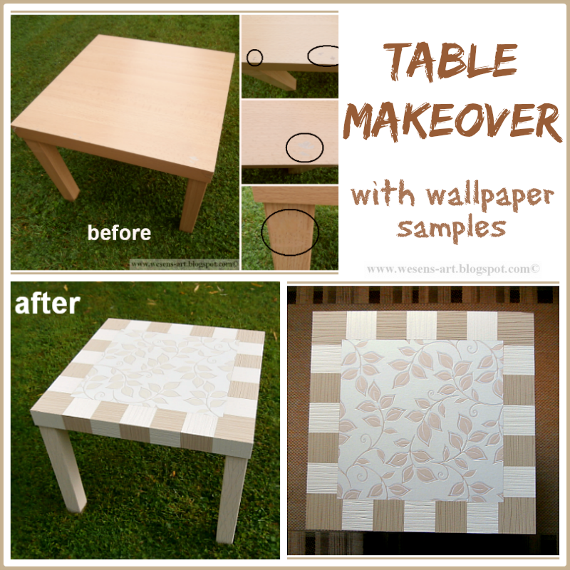 Table Makeover     wesens-art.blogspot.com