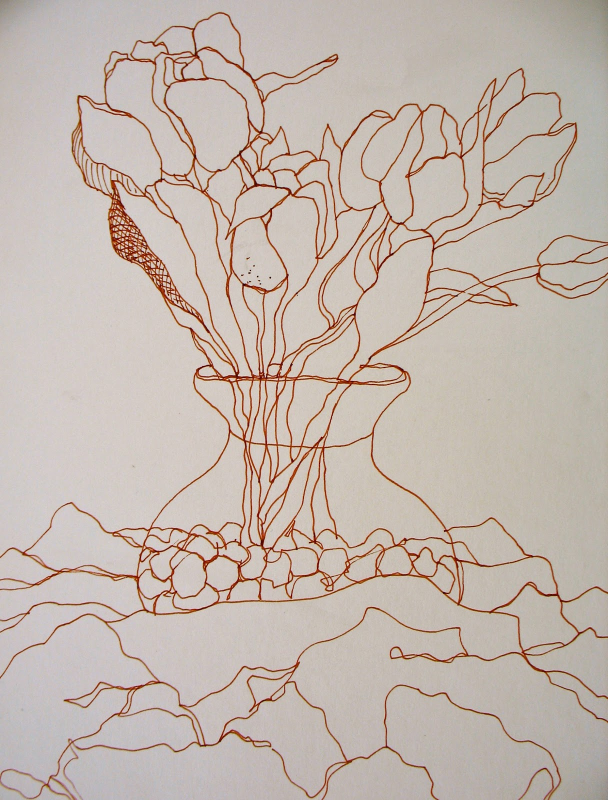 Simple Contour Line Drawings Of Flowers : The painted prism flowers sketchbook exercises to try