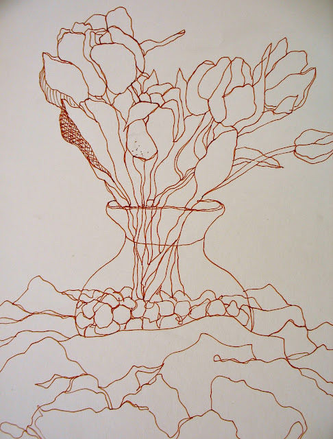 Contour Line Drawing Plant : The painted prism flowers sketchbook exercises to try
