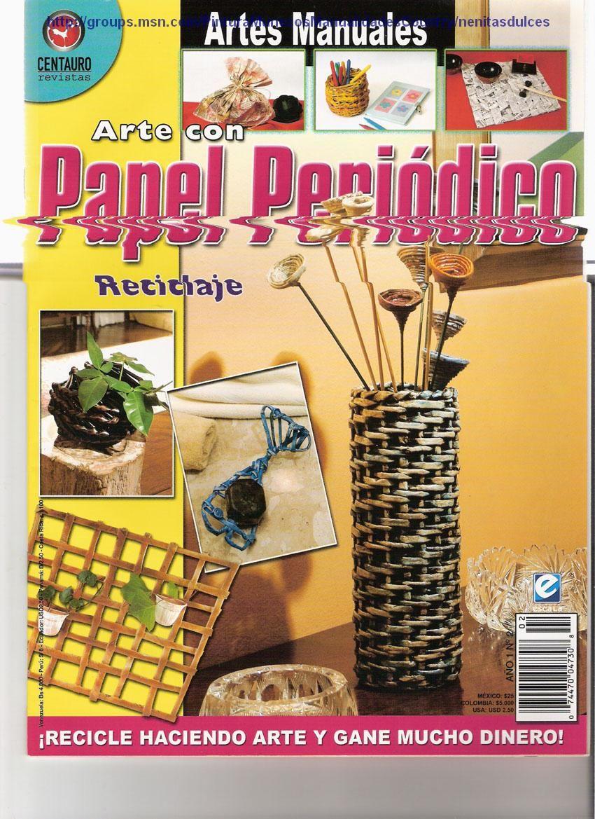 Manualidades Con Papel Periodico Reciclaje