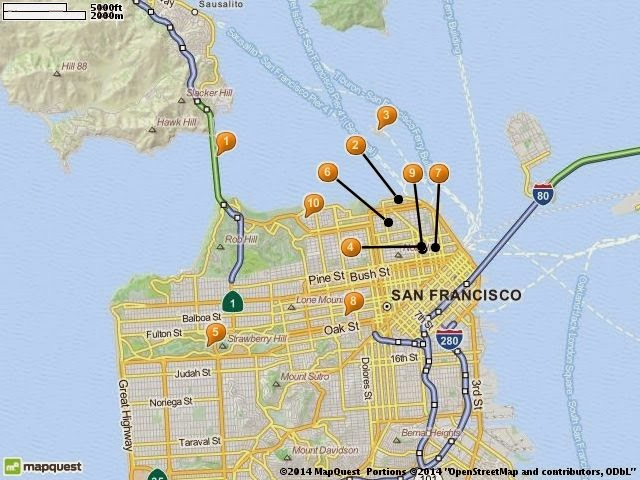 AN EXCITEMENT OF TOURISM BEGIN LIVE LOVE LAUGH – Tourist Attractions In San Francisco Map