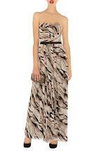 Feather Print Maxi Dress