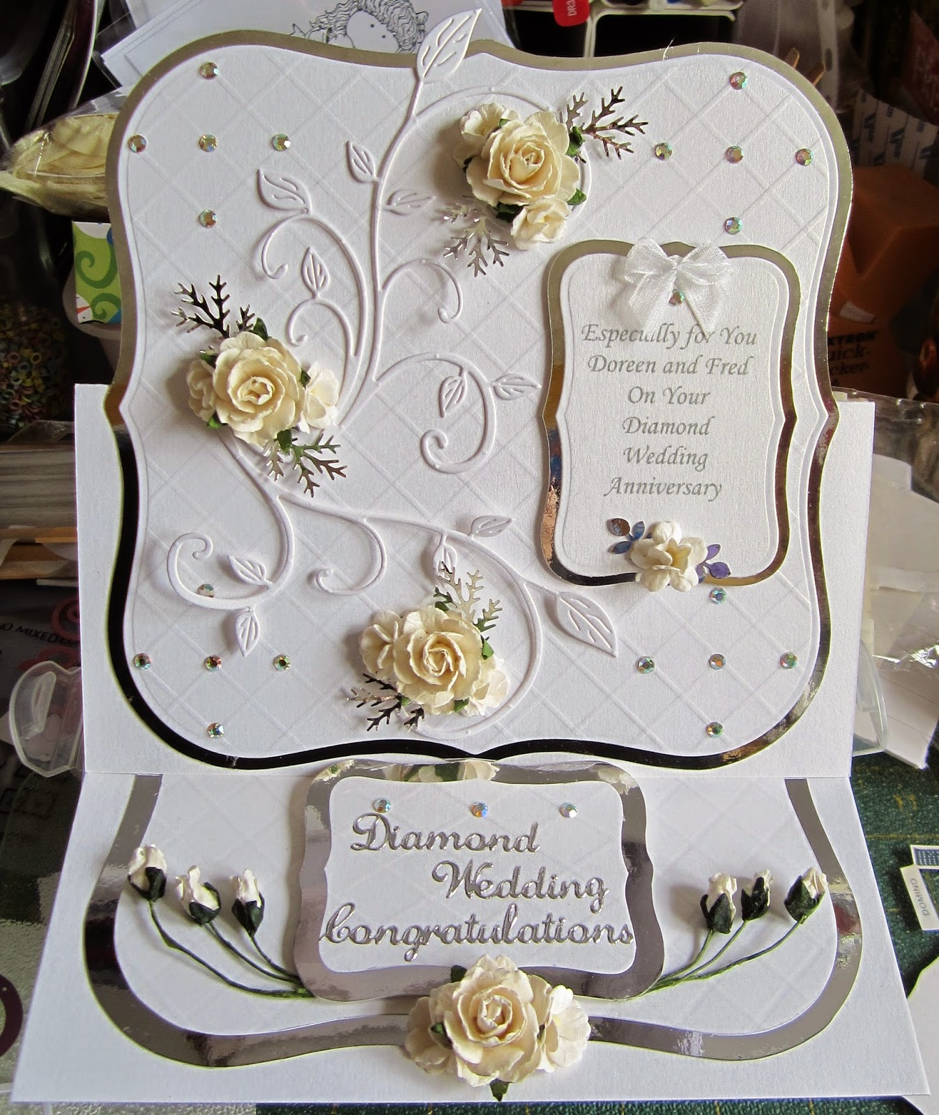 kyms kreations Diamond Wedding Card