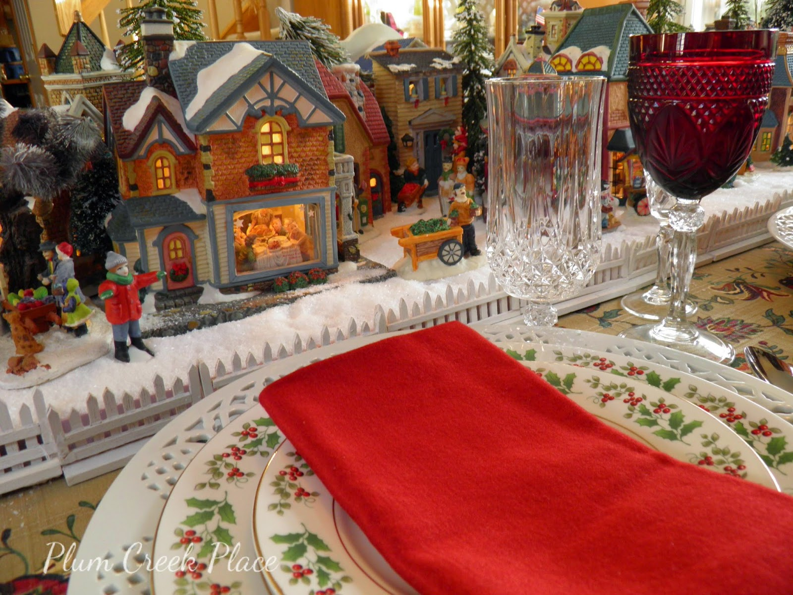 Christmas Village Tablescape