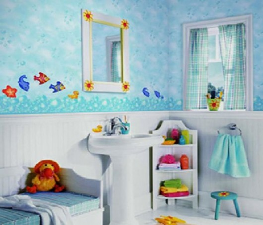 Kids bathroom decorating ideas for Bathroom motif ideas