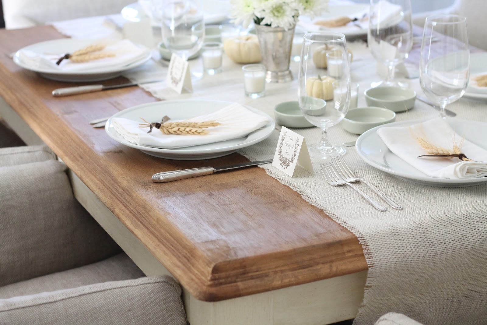 How to make a farm table from inexpensive craigslist furniture for Table setting design