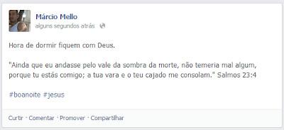 Publicação no Facebook com hastag (#)