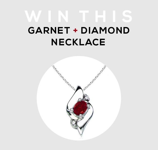 GIVEAWAY // Win A Garnet + Diamond Necklace from Angara and Bubby & Bean!