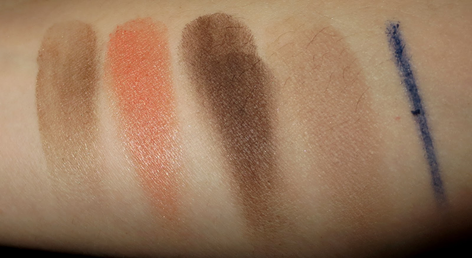 Clarins Colours of Brazil Eye Quartet & Liner Palette swatches