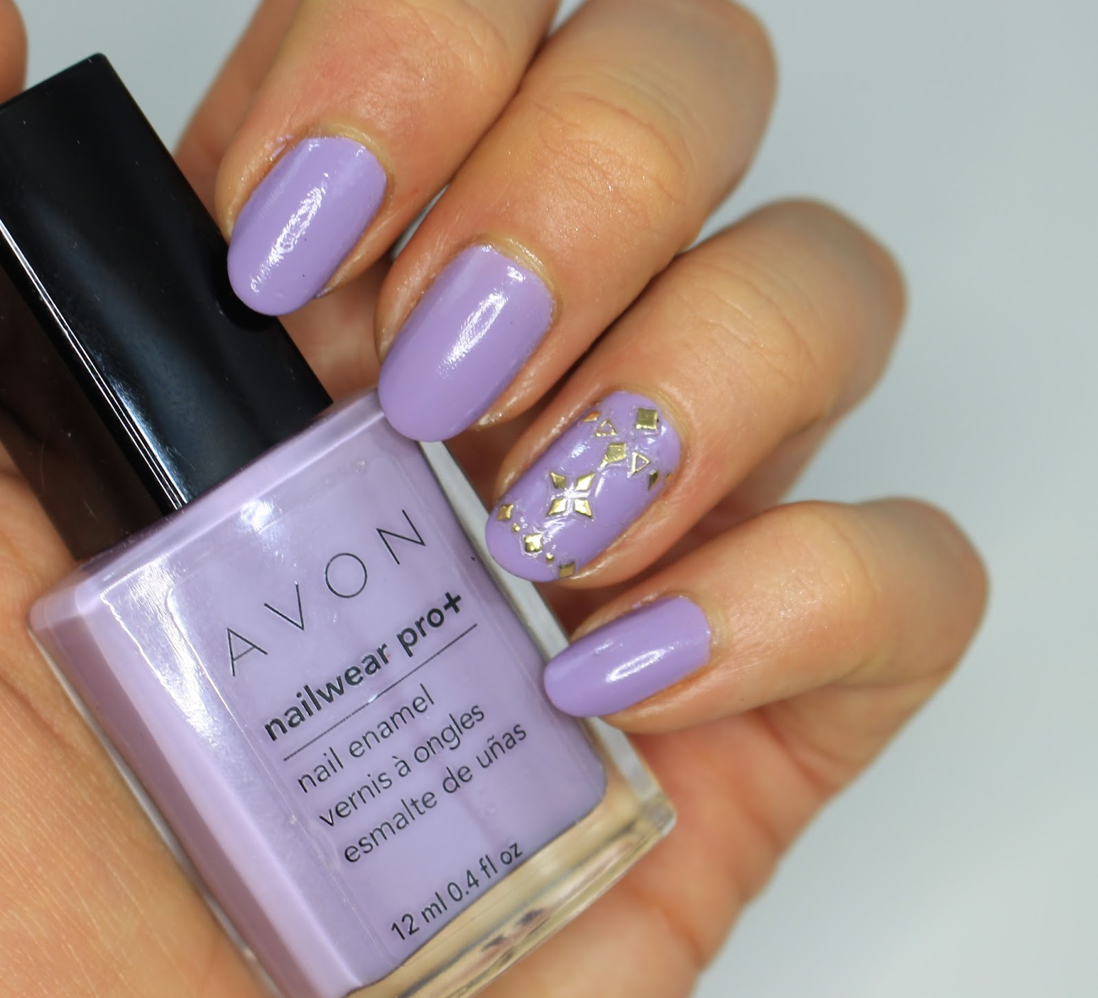 ManiMonday : Lavender Nails with Kiss Nail Art Gold Accents - My ...