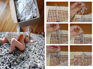 Sensitividad reciclando telas y lanas - Como hacer alfombras de lana ...