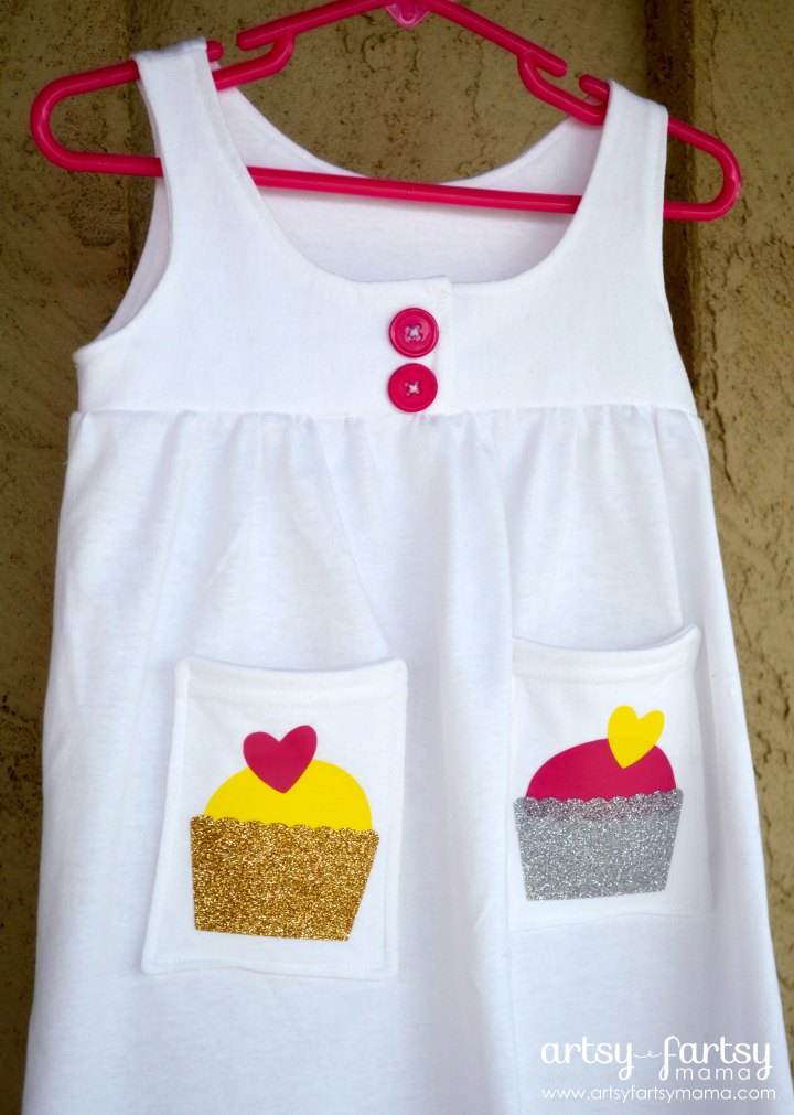 Refashioned T-Shirt Dress with Cricut Iron-On