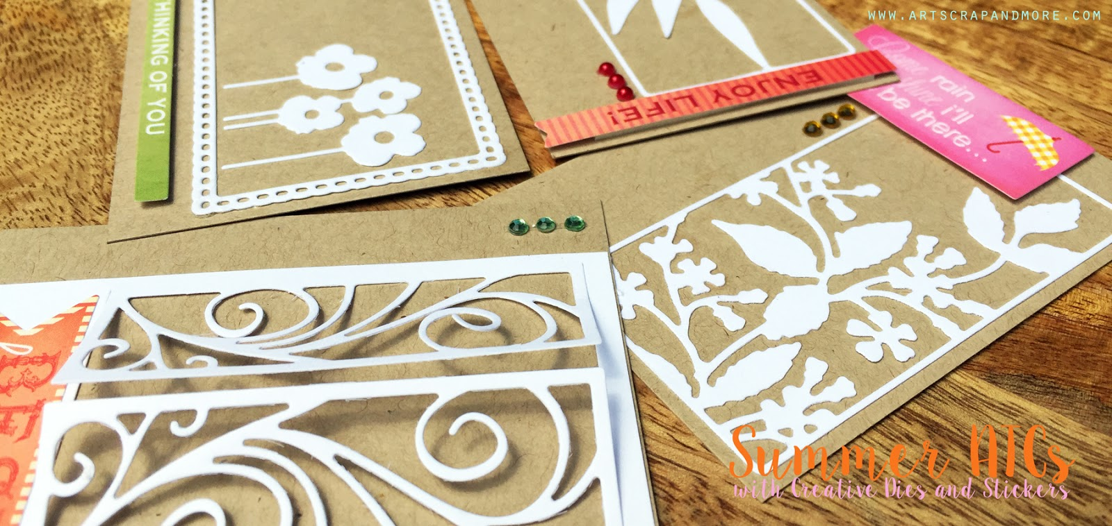 How to make scrapbook creative - Welcome To Another Edition Of Scrapbooking With Penny Black Products I Love To Make Atcs In The Summer Time And There S Something About Playing With White