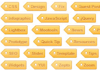 CSS3 customized labels for blogger