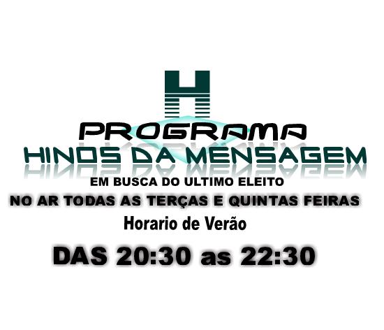 PROGRAMA HINOS DA MENSAGEM