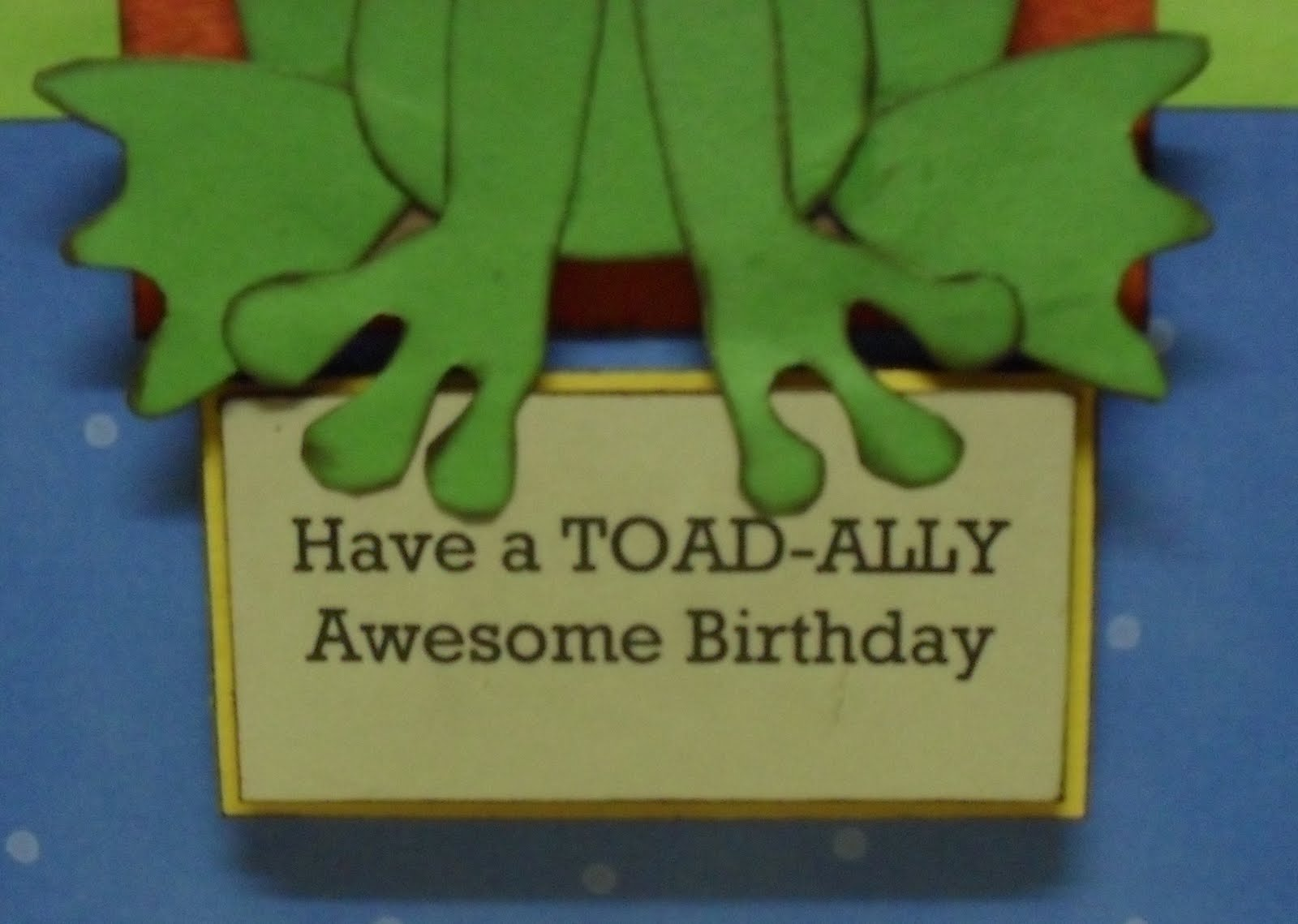 Celebrating ordinary moments have a toad ally awesome birthday card