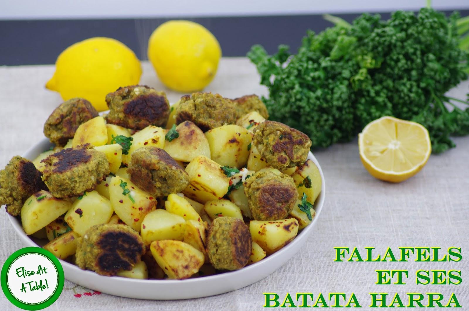 recette Falafels et batata harra