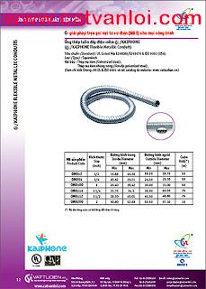 CVL Ống ruột gà lõi thép luồn dây điện- ống thép luồn dây điện mềm & đầu nối kín nước- waterproof flexible metallic conduit- liquidtight flexible metal conduit & connectors