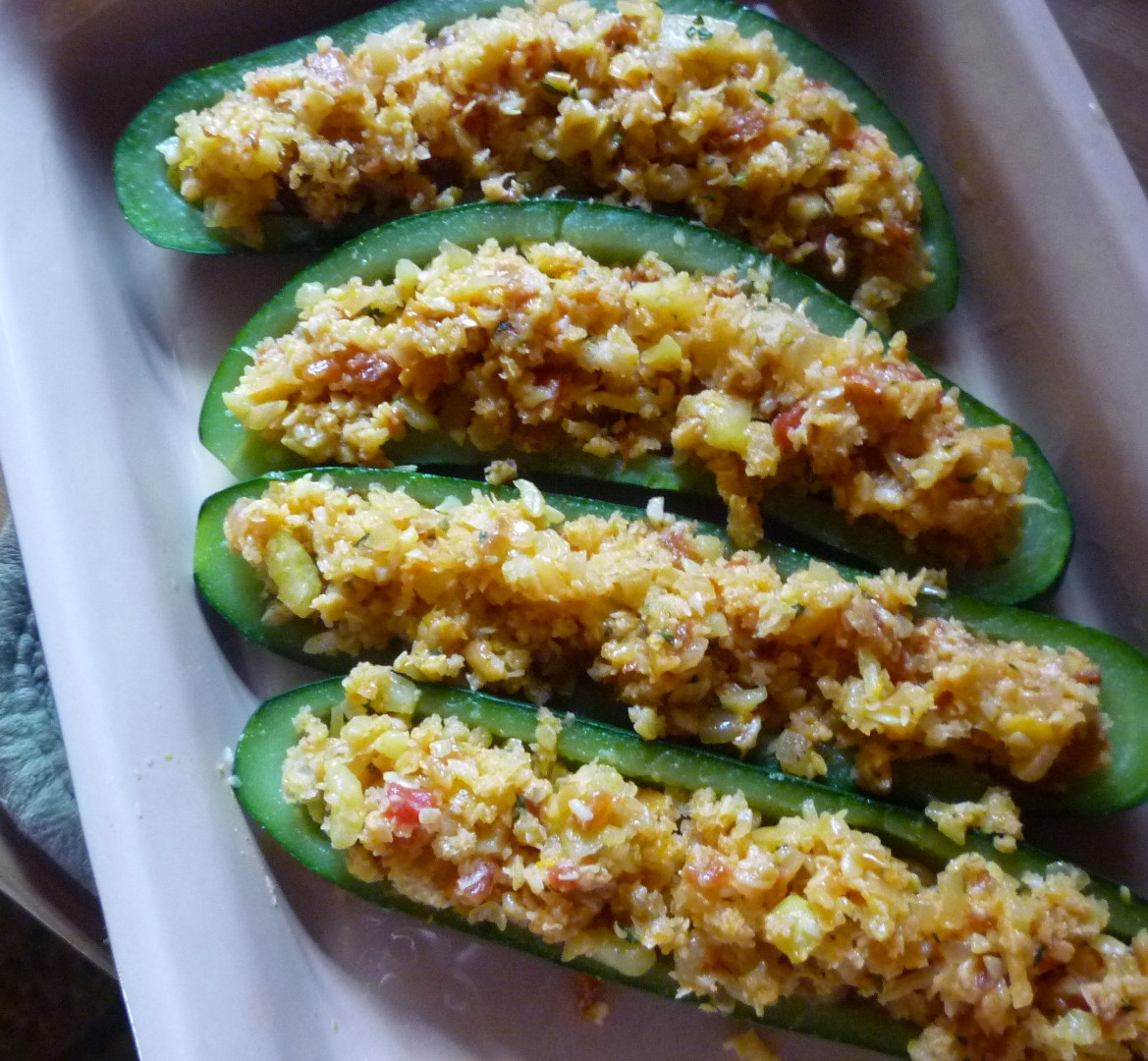 For Love of the TableRoasted Stuffed Zucchini