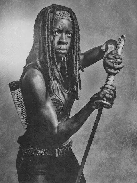 Danai Gurira como Michonne – The Walking Dead _ sexta temporada, Silver Portraits – Photo Credit: Frank Ockenfels 3/AMC