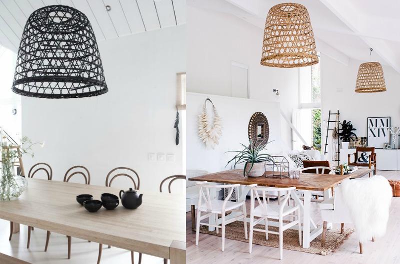 L mparas de mimbre blog de decoraci n diy ideas low cost para decorar tu casa decoconsailo - Lamparas de decoracion ...