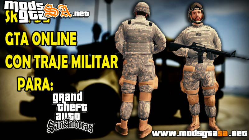 SA - Skin Militar do GTA V Online