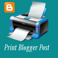 How To Add Print Button To Only Print Blogger Post?