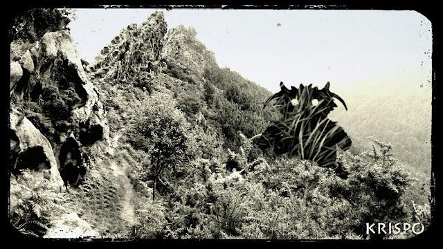 criatura en monte jaizkibel como foto antigua