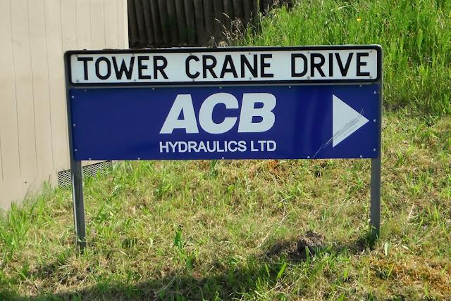 Tower Crane Drive street-sign