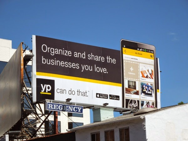 Organize share businesses you love Yellow Pages billboard