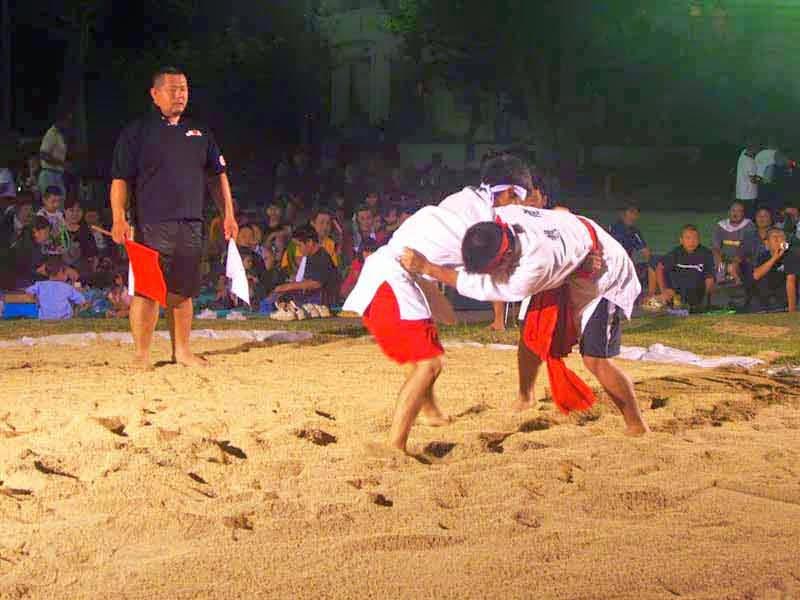 Okinawan sumo wrestlers
