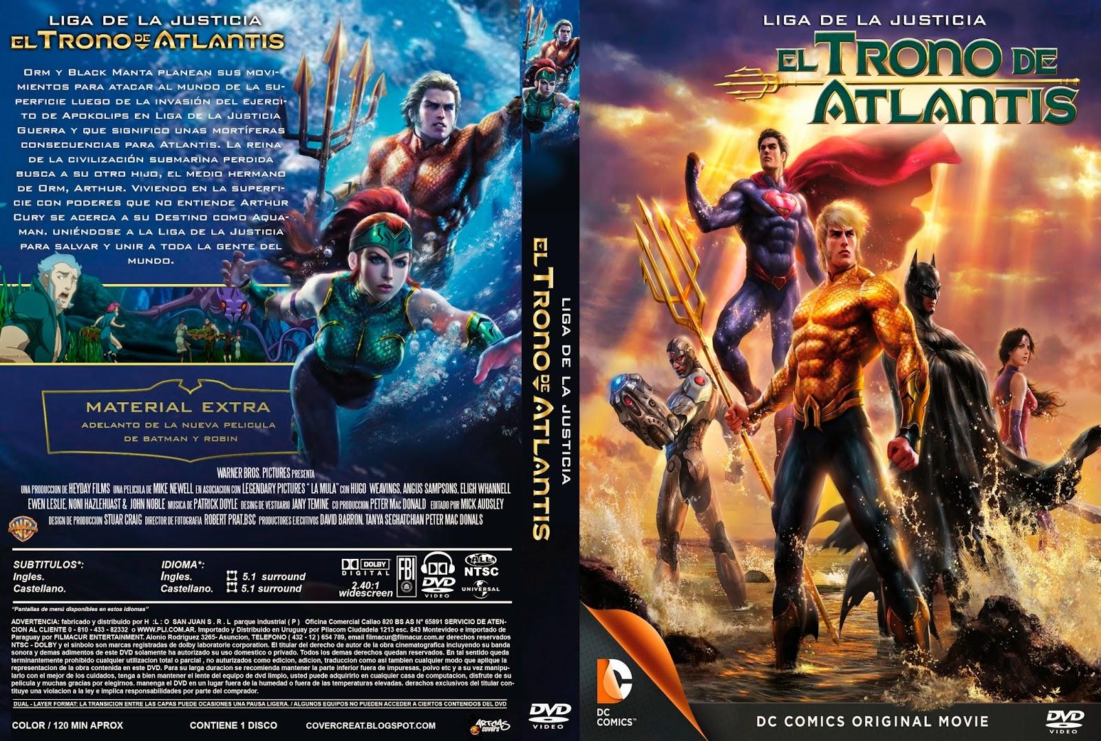 La Liga De La Justicia El Trono De Atlantis DVD