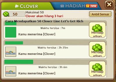Cara Mendapatkan 50 Clover Line Let's Get Rich