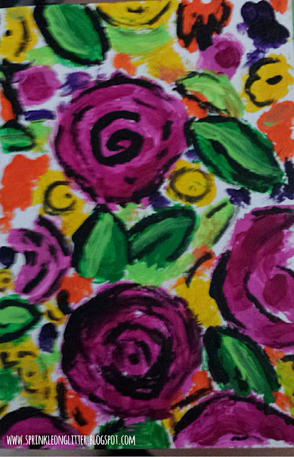 Abstraction- finger painting- AlisaBurke- write 31 days