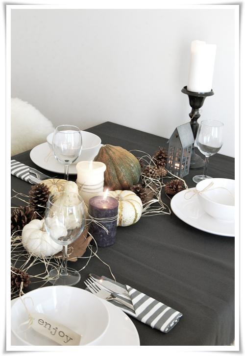 semplicemente perfetto, table setting, autunno