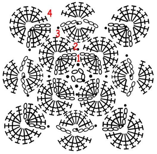 Вязание крючком баварское вязание схема 46