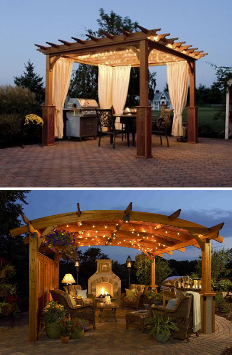 Backyard Cabanas Gazebos : Modern Country Designs Wooden Pergola
