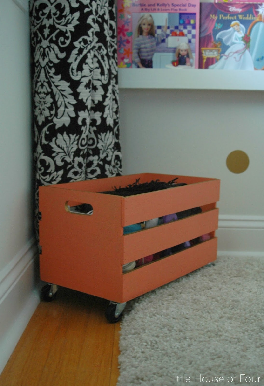 Inexpensive Wood Crate Shoe Storage