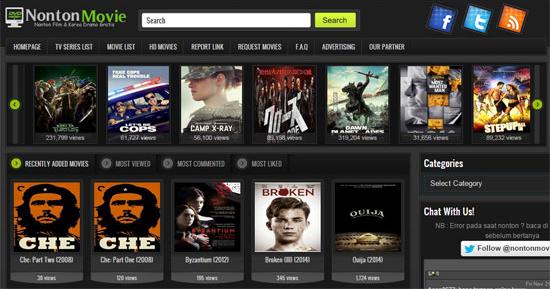 4 Situs Nonton Film Online Bioskop Secara Gratis Tersedia