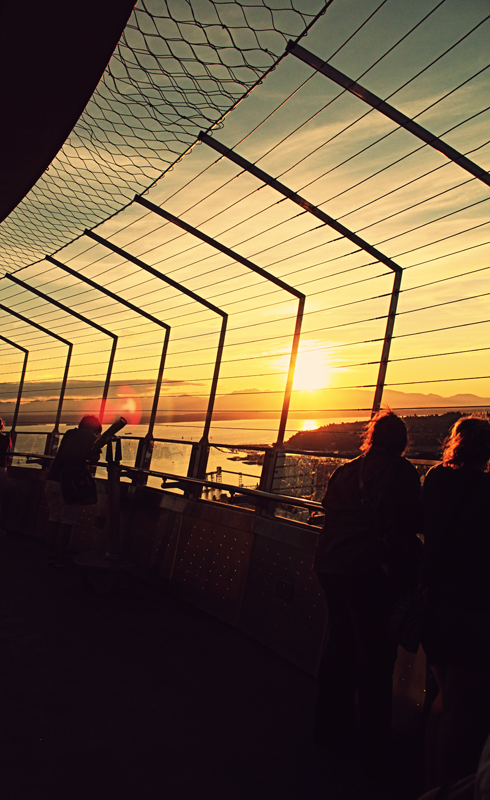 space needle observation deck pacific northwest travel photography