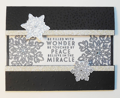 Card made with Stampin'UP!'s Flurry of Wishes Stamp Set and matching Snowflake Flurry Punch