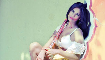 poonam pandey for holi latest photos