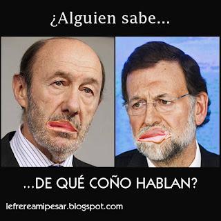 """""""Mariano Rajoy"""", """"Rubalcaba"""", """"coño"""""""