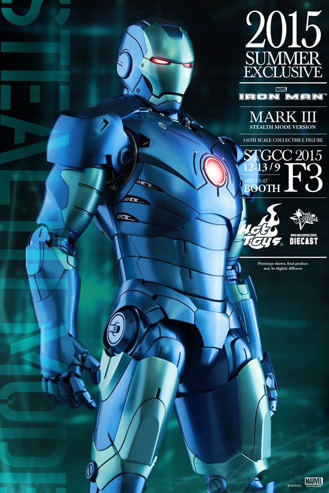 Hot Toys Iron Man Mark III Stealth Mode Version Exclusive