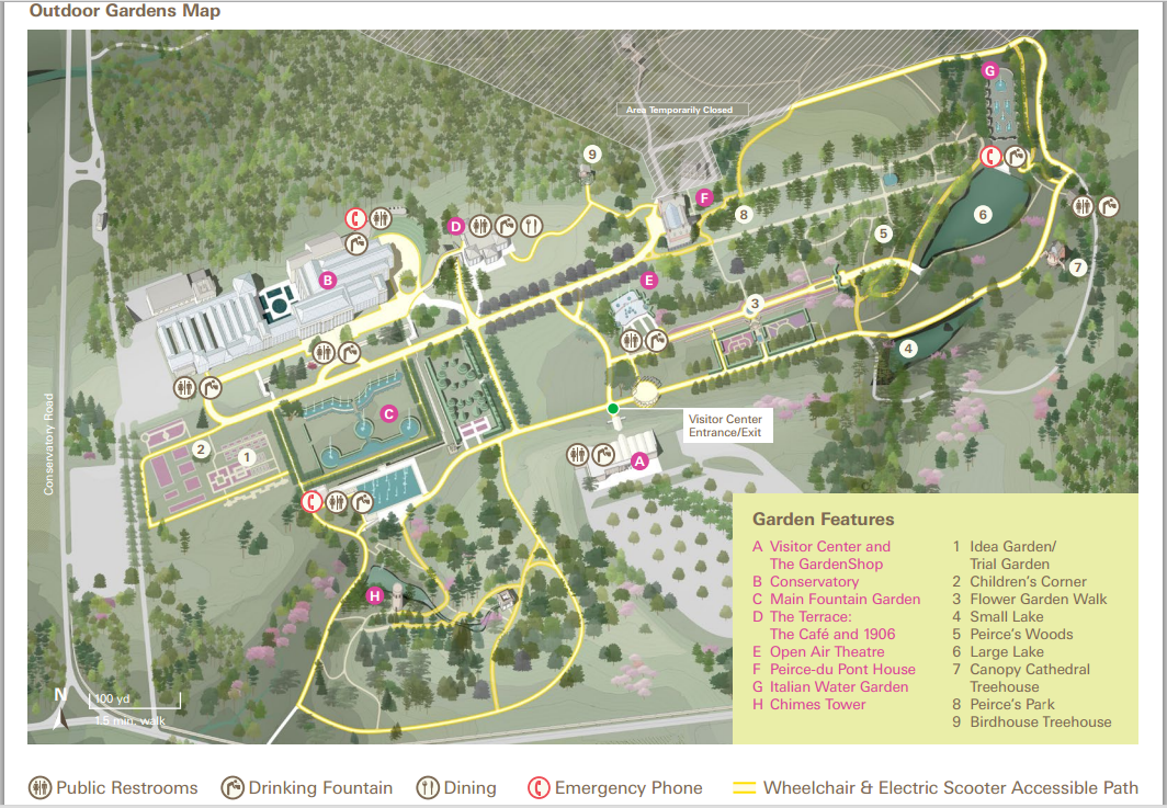 Longwood gardens map pictures to pin on pinterest pinsdaddy for Longwood gardens address