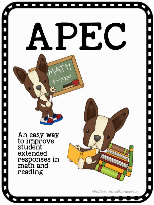 Picture of APEC (Answer, Proof, Explain, Connect) Teachingisagift.blogspot.ca